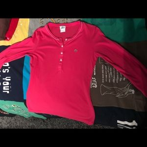 Lacoste Tops - 5-pack Lacoste Shirts / Sweater (Size 40)